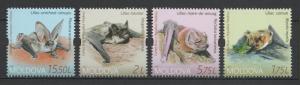 Moldova 2017 Fauna Animals Bats - 4 MNH stamps