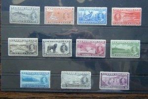 Newfoundland 1937 Additional Long Coronation set MM Sg257 - SG267