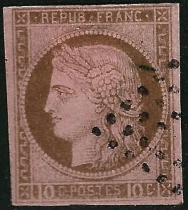 France Colonies #20 Used VF hr ...Chance to bid on a real Bargain!