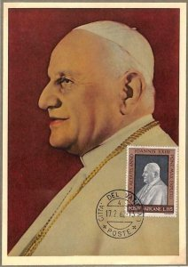 90082 - VATICAN - Postal History - MAXIMUM CARD - POPE JOHN XXIII  1962