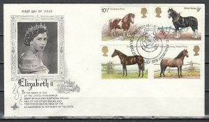 Great Britain, Scott cat. 839-842. British Horses issue. First Day Cover. ^