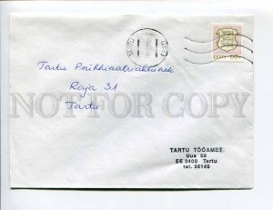 413101 ESTONIA 1993 year Tartu real posted COVER