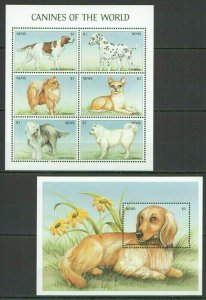 QC035 NEVIS FAUNA PETS DOGS CANINES OF THE WORLD 1KB+1BL FIX