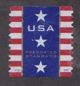 US #4157 Patriotic Banner Used PNC Single Plate #V333