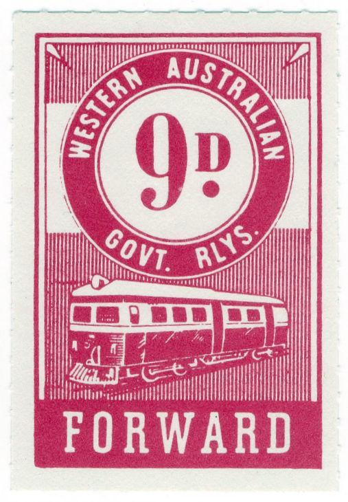 (I.B) Australia - Western Australia Railways : Parcels 9d