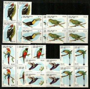 Nicaragua Scott 1125-8,C986-8 Mint NH blocks