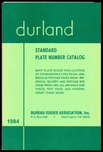 1984 Durland Plate Number Catalogue