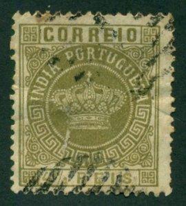 Portuguese India 1882 #163 U SCV (2018) = $0.45