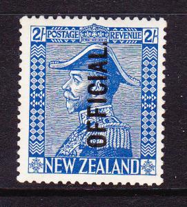 NEW ZEALAND 1926 2/- BLUE OFFICIAL ADMIRAL KGV MVLH