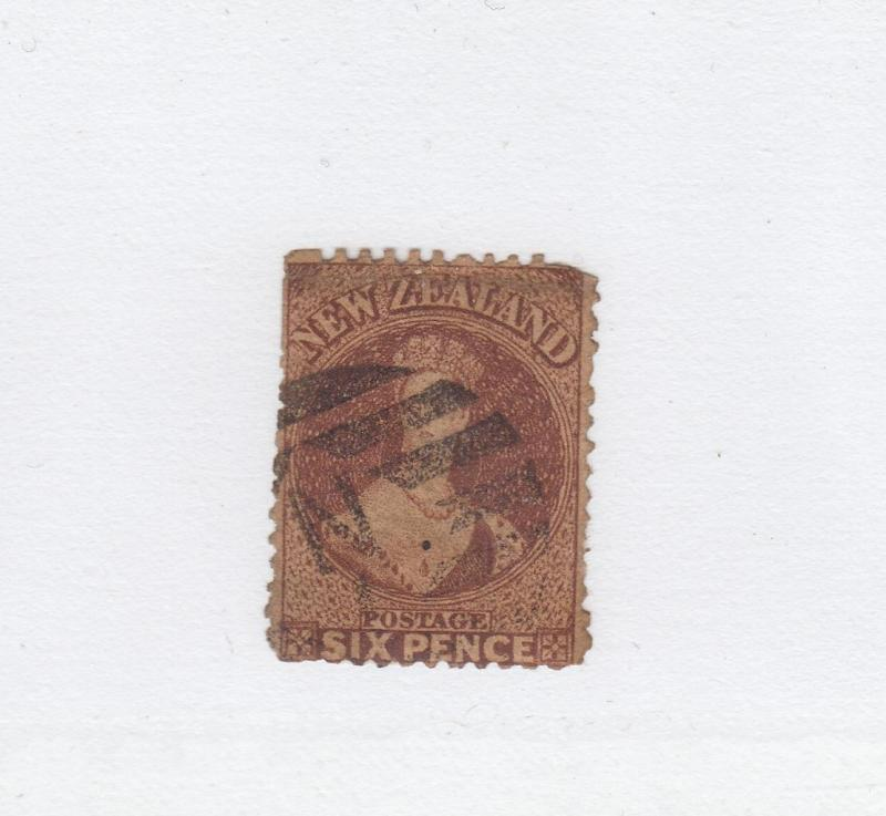 NEW ZEALAND # 19 6p CHALONHEAD CAT VALUE $130