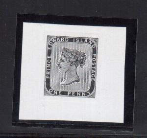 Prince Edward Island #4 DP Extra Fine Die Proof On Thick White Wove Paper wCert.