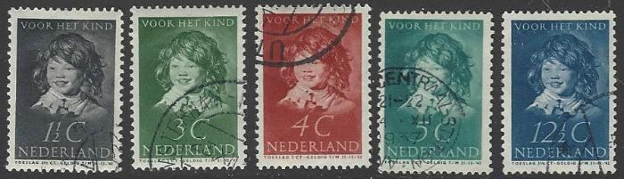 Netherlands #B98-B102 Used Full Set of 5 Semi-postals