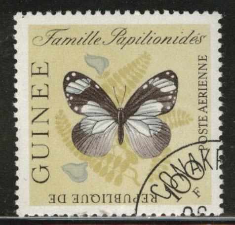 Guinea Scott C47 Used CTO 1963 Butterfly Stamp CV030