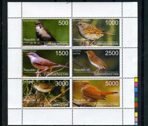 Turkmenistan 1998 Birds Sheet Perforated mnf.vf