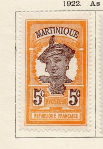 Martinique 1922 Early Issue Fine Mint Hinged 5c. 181689
