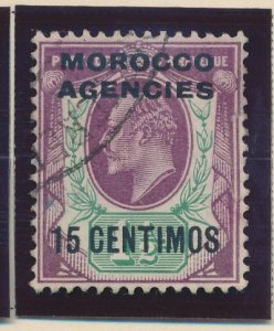 Great Britain, Offices In Morocco Stamp Scott #36, Used - Free U.S. Shipping,...