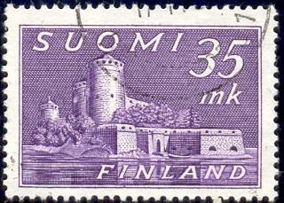 Castle in Savonlinna, Finland stamp SC#280 used