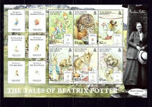 Solomon Is 1089a MNH 2006 Tales of Beatrix Potter Sheet