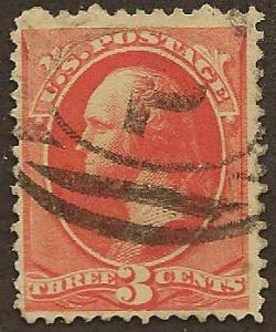 #214 used, 3c. Washington, SCV $67.50