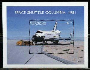 GRENADA SPACE SHUTTLE COLUMBIA SOUVENIR  SHEET  MINT NH