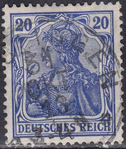Germany 84 USED 1918 Deutsches Reich 20Pf