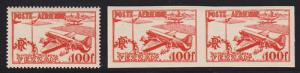 Libya, Fezzan Sc 2NC1v-2NC2v MNH. 1948 Air Mails cplt set, Perf & Imperf, VF+