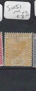 MALAYA SELANGOR  (P0702B)  2C  TIGER  SG  51    MOG