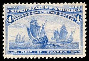 U.S. COLUMBIAN ISSUE 233  Mint (ID # 78383)