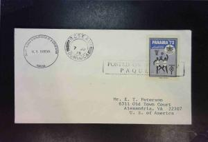 Panama - 2 1970s Paquebot Covers w/ Dominica & Canal Zone Cancels - Z1552