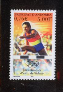ANDORRA FRENCH 2000 MNH SC.525 Olympic Games Sidney