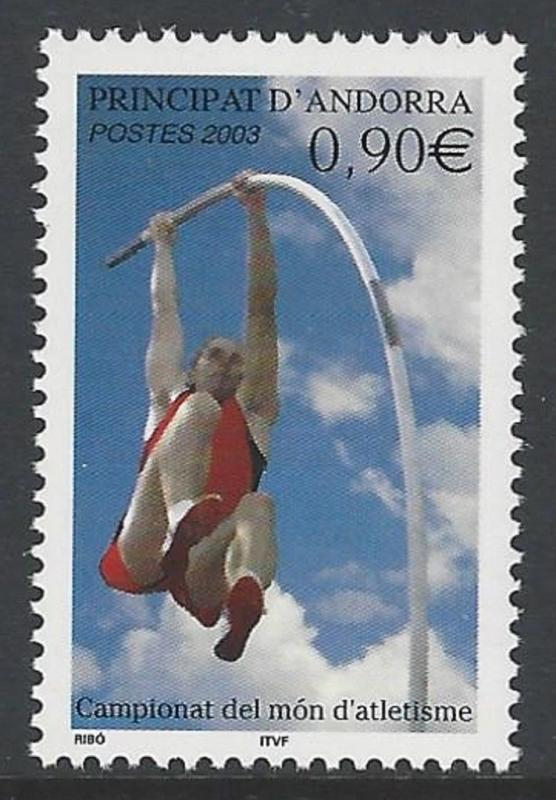 Andorra French 2003 Pole Vault VF MNH (573)