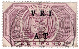 (I.B) Orange River Colony Army Telegraphs : £1 Violet