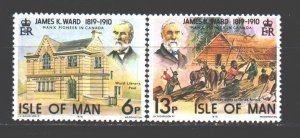 Isle Of Man. 1978. 129-30. Kyuli-Canadian politician and logger. MNH.