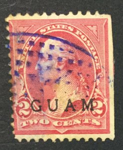 MOMEN: US STAMPS GUAM #2 USED $25 LOT #44826