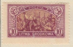 Central Lithuania Mittellitauen Lituanie Lituania 1921 10m MH* A8P11F119
