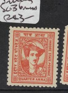 India Indore SG 36 MNH (2dpe)