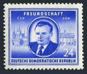 Germany-GDR 99,MNH.Michel 302.Friendship GDR - Czechoslovakia,1952.K.Gottwald.