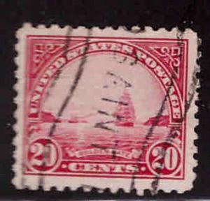 USA Scott 567 Used Ship at Golden Gate 20c stamp