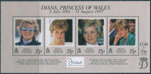 British Antarctic Territory 1998 SG280 Princess Diana MS MNH