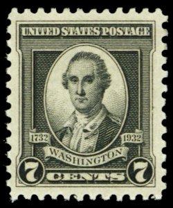 712, Mint XF NH 7¢ JUMBO GEM Stamp! - Stuart Katz