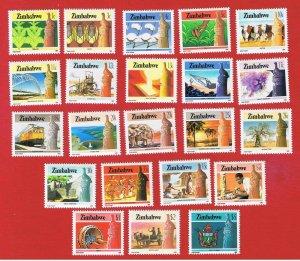 Zimbabwe #493-514  MNH OG  Various Scenes  Free S/H