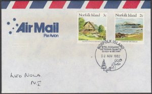 NORFOLK IS 1992 cover  VETERAN GAMES cancel.................................A746