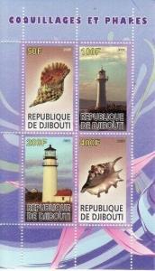 Lighthouses & Shells -  Sheet of 4  - SV0559