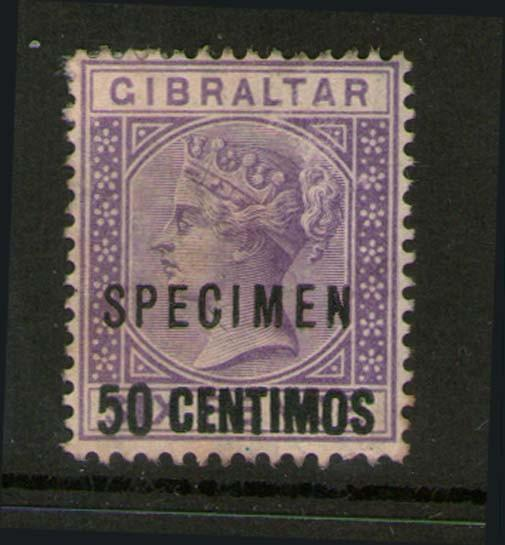 Gibraltar 1889 SG 20 SPECIMENT