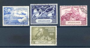 Swaziland 1949 UPU set SG48/51 Fine Used