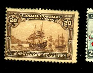 Canada #103 MINT Fine Part OG 30% Gum loss Cat $250