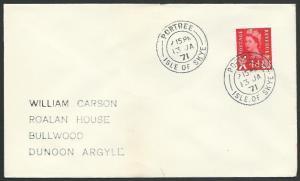GB SCOTLAND 1971 cover  PORTREE / ISLE OF SKYE cds........................55754*
