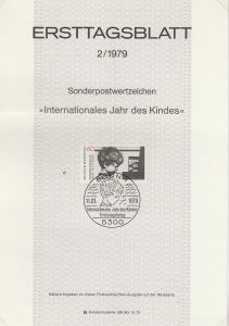 1979 Germany - FD Card (ETB) Sc 1286 - Year of the Child