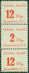 Germany Post WWII Allied Zones Spremberg Dramatic 2pf Error MNH 49976
