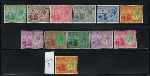 TRINIDAD & TOBAGO SCOTT #21-32 1922-28 BRITANNIA (MISSING 1SH WMK3)- MINT LH